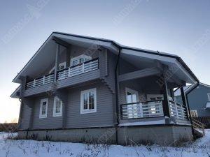 Дом из бруса для проживания 2