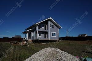 фасад дома из бруса