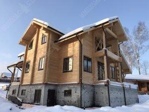 фасад дома клееный брус