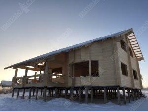 дом из бруса фасад