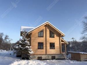 стройка дома из клееного бруса