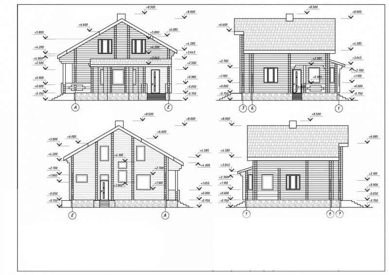 размеры домов на чертежах в картинках красивый