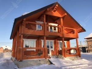 дом из бруса построенный под ключ
