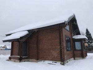 дом из бревна с утиплением